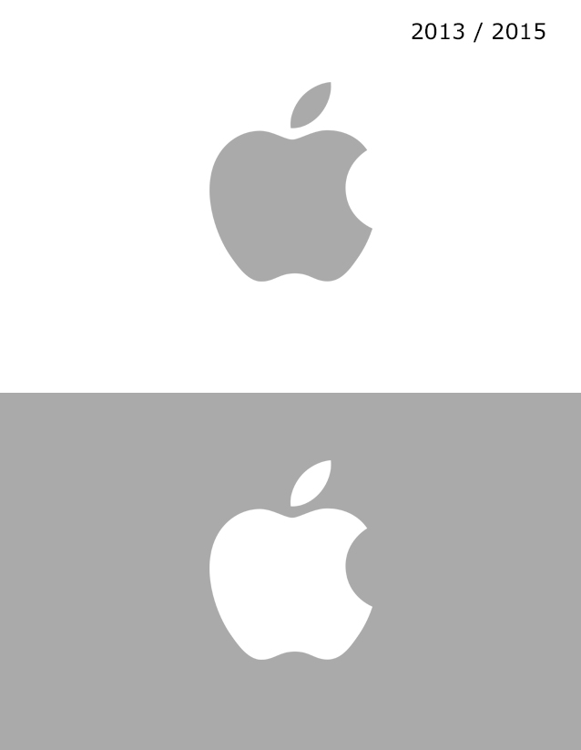 Apple Logosu 2013 / 2015