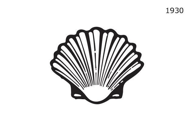 Shell Markasının 1930'lu yıllarda kullanmakta olduğu logo tasarımı