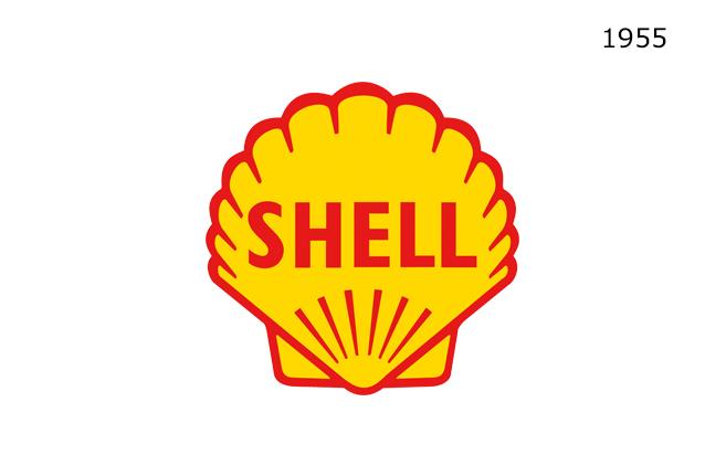 Shell Markasının 1955 Yılında Kullandığı Logo Tasarımı